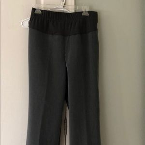 Maternity gray slacks